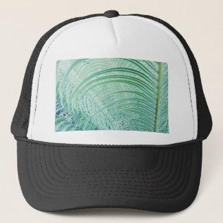 Soft Green Plant Palm Leaf Trucker Hat