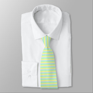 Soft Green, Yellow and Blue Stripes Tie
