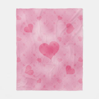 soft hearts A Fleece Blanket