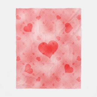 soft hearts B Fleece Blanket