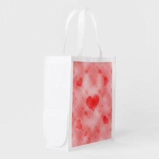 soft hearts B Reusable Grocery Bag