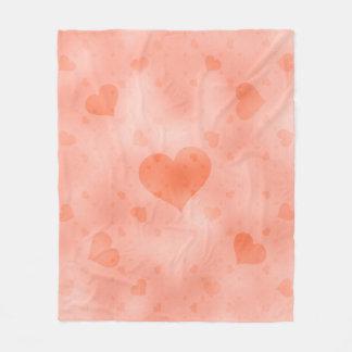 soft hearts C Fleece Blanket
