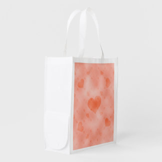 soft hearts C Reusable Grocery Bag