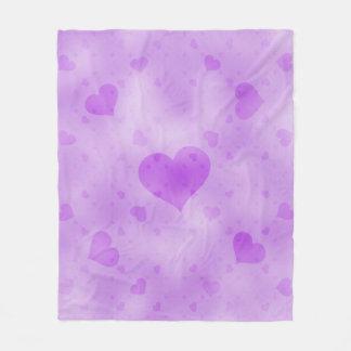 soft hearts D Fleece Blanket
