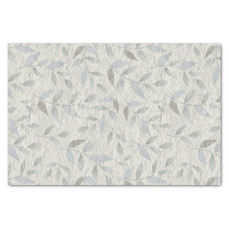 Soft Heather Gray Leaves Tissue Paper