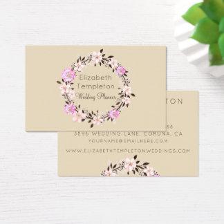 Soft Hues Floral Wreath Elegant Business Card