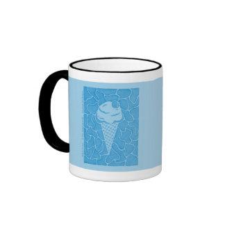 Soft Ice Cream (frosty blue) Ringer Mug