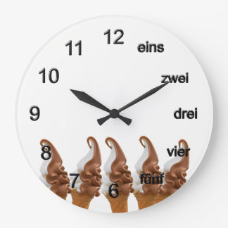 Soft ice large clock
