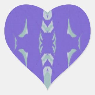 Soft Lavender Mint Green Artsy Pattern Heart Sticker