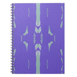Soft Lavender Mint Green Artsy Pattern Notebooks