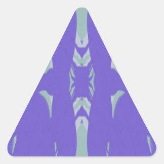 Soft Lavender Mint Green Artsy Pattern Triangle Sticker