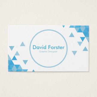 Soft light Blue Texture modern pixel business card