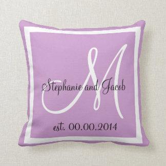 Soft Light Purple Lavender Wedding keepsake pillow