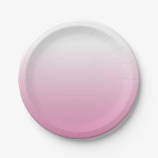 SOFT LIGHT ROSE PINK OMBRE PAPER PLATES