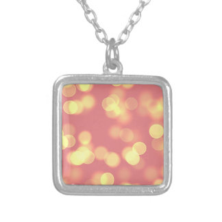soft lights bokeh 4b silver plated necklace