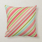 soft lines throw pillow coral pink_moss green