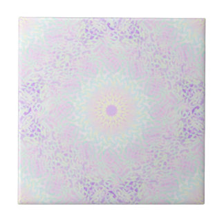 Soft Love Pastel Mandala (Big) Ceramic Tiles