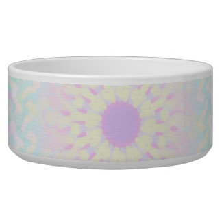 Soft Love Pastel Mandala (Big) Pet Water Bowl