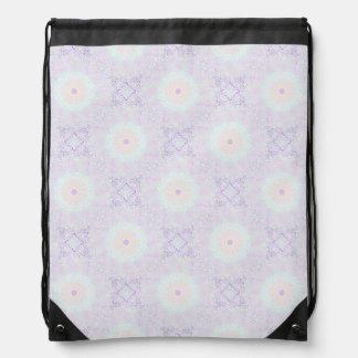 Soft Love Pastel Mandala Drawstring Bag
