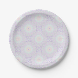 Soft Love Pastel Mandala Paper Plate