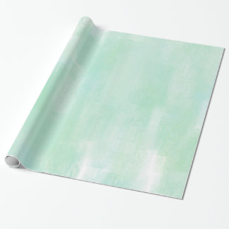 Soft Mint Abstract Wrapping Paper