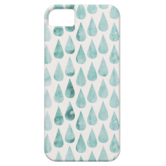 Soft Mint Watercolor Raindrop Pattern for iPhone5 Case For The iPhone 5