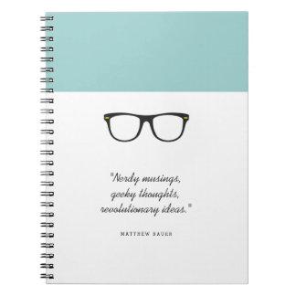 Soft Mint Wayfarer Glasses Notebooks