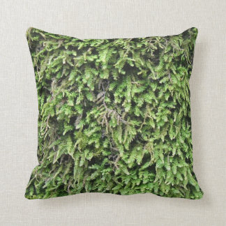 Soft moss print pillow