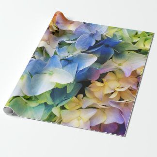 Soft Multi-color Hydrangea Wrapping Paper