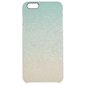 """SOFT-MUTED CARIBBEAN COLORS /SEA&SAND"" CLEAR iPhone 6 PLUS CASE"