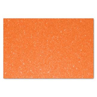 Soft Orange Glitter Print Tissue Paper