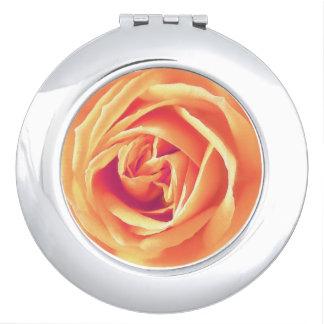 Soft orange rose print makeup mirror