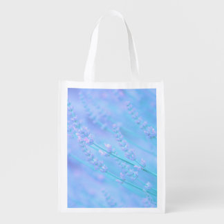 soft pale lavender reusable grocery bags