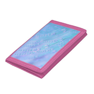 soft pale lavender trifold wallets