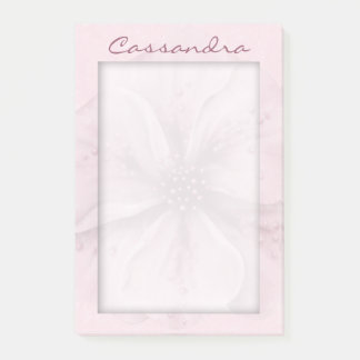 Soft Pale Pink Floral with Matte Post-it® Notes