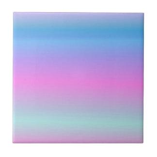 Soft Pale Rainbow Ceramic Tiles