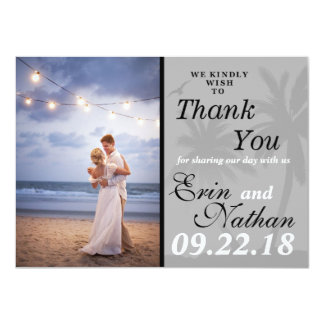 Soft Palm Tree Thank You Card