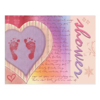 Soft pastel baby shower invites - customize! postcard