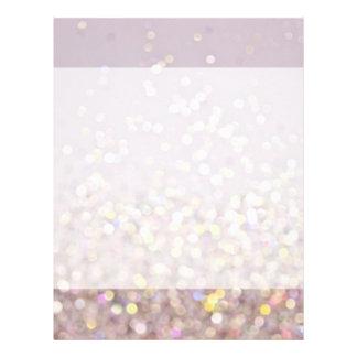 Soft Pastel Bokeh sparkles Letterhead