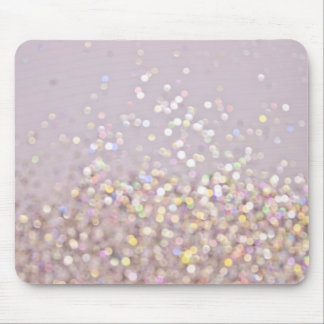 Soft Pastel Bokeh Sparkles Mouse Pad
