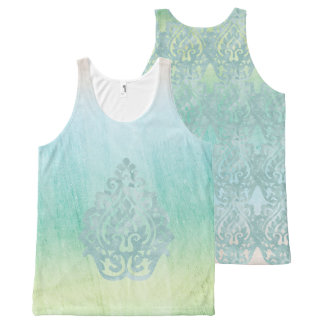 Soft Pastel Coastal All-Over-Print Tank Top