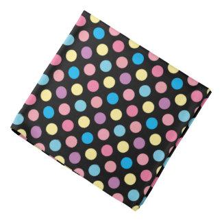 Soft Pastel Colors Polka Dots Pattern Bandana
