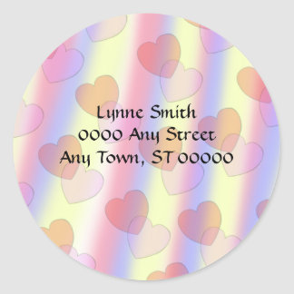Soft Pastel Hearts -- Address labels