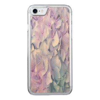 Soft Pastel Hydrangea iPhone Wood Carved iPhone 8/7 Case