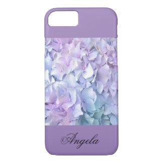 Soft Pastel Hydrangea/Lavender iPhone 7 Cases