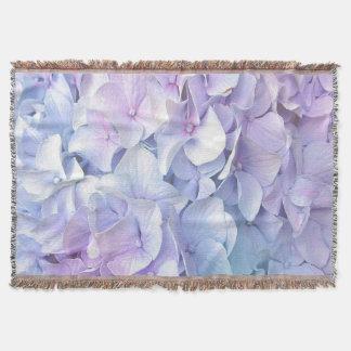 Soft Pastel Hydrangea Throw Blanket