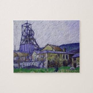 Soft Pastel Painting 'Big Pit', Blaenavon, Wales Puzzle