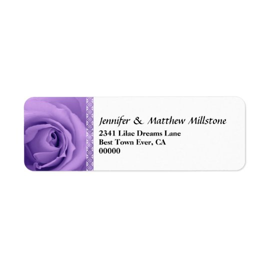 Soft Pastel Purple Rose with Lace Trim Wedding