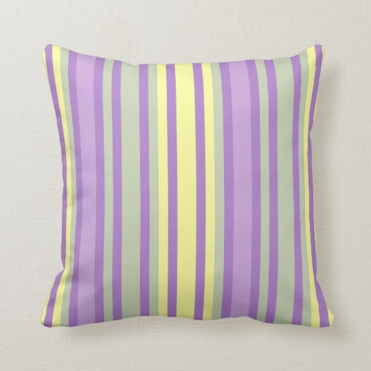 Soft Pastel Stripe Pillow