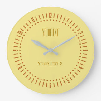 Soft Pastel Yellow Color to Personalize on a Large Clock